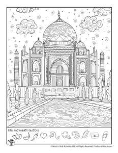 Taj Mahal Hidden Shapes Game