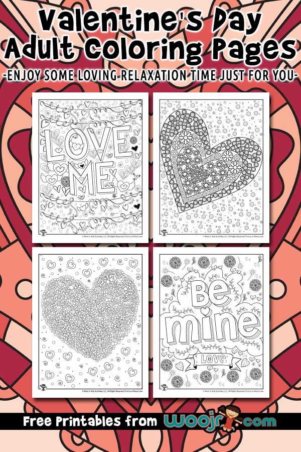 Valentine's Day Adult Coloring Pages