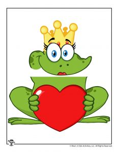 Valentine's Day Frog Queen Paper Bag Puppet