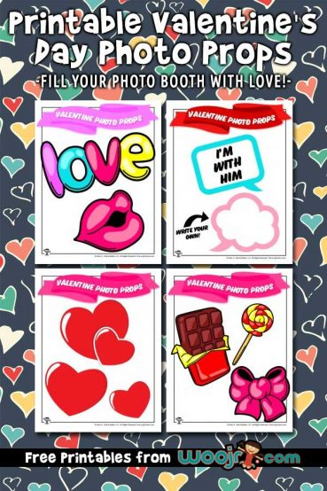 Printable Valentine's Day Photo Props