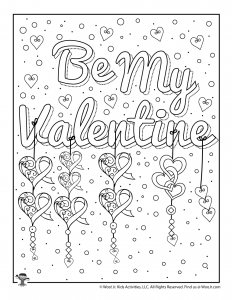 Be My Valentine Coloring for Adult