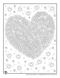 Valentine Heart Adult Coloring Printable