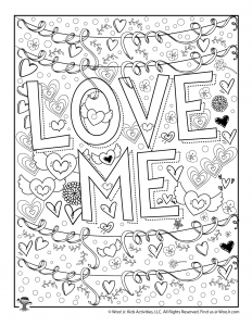 Love Me Valentine Coloring for Adult