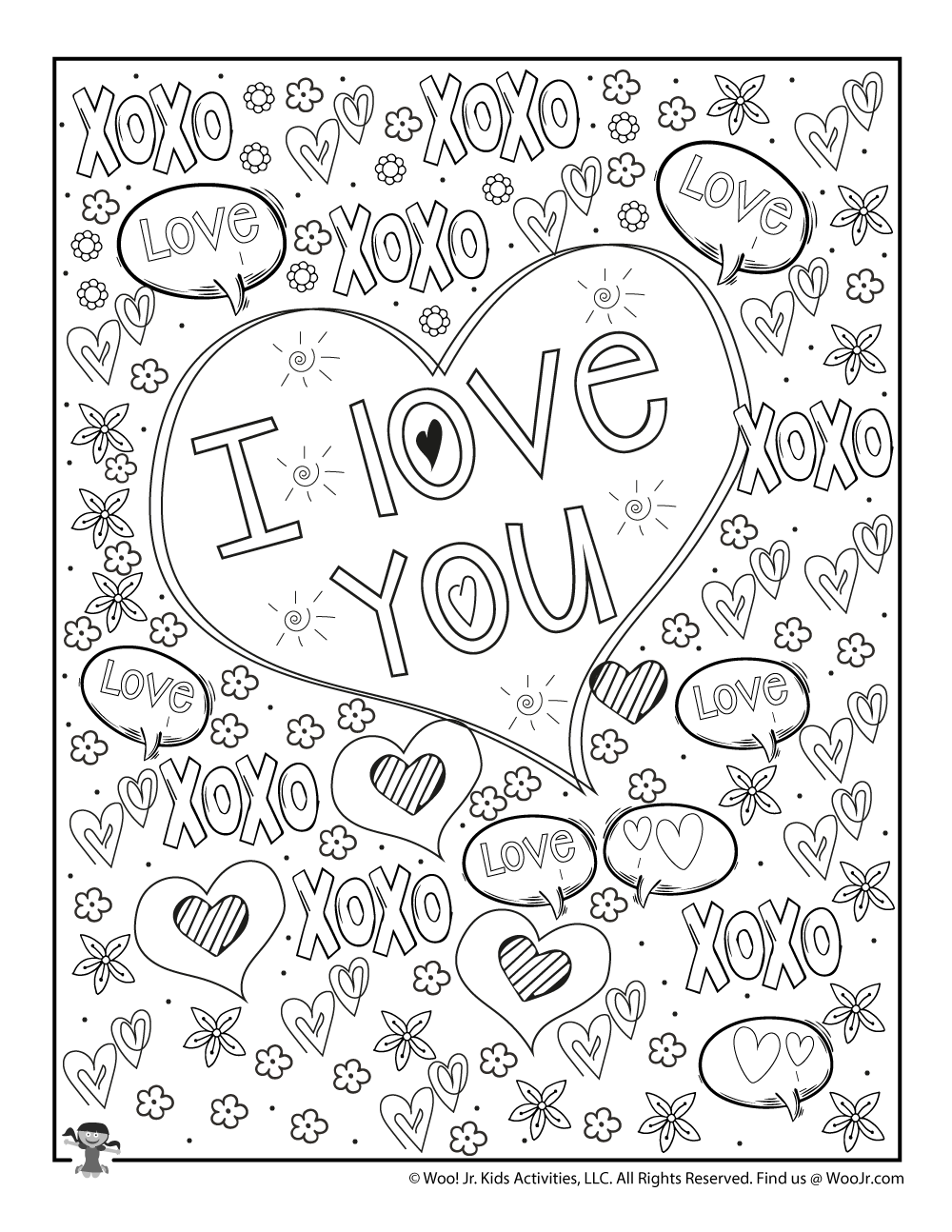 FREE Valentine's Day Coloring Pages for Grown Ups - Almost Supermom | 1294x1000