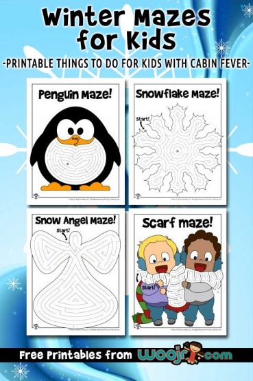 Printable Winter Mazes for Kids