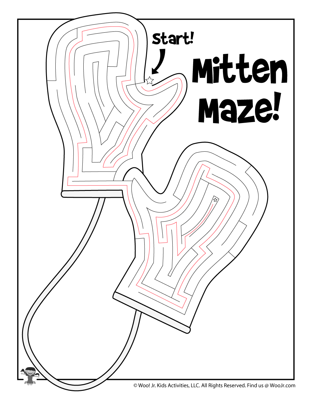 It is a photo of Printable Mitten pertaining to sewing pattern