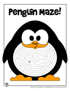 Penguin Winter Maze for Kids