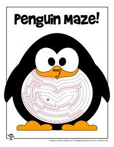 Printable Winter Mazes for Kids | Woo! Jr. Kids Activities