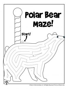 North Pole Polar Bear Winter Maze