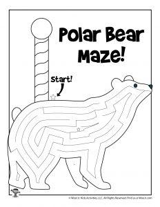 North Pole Polar Bear Winter Maze