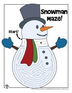 Frosty Snowman Labyrinth Maze