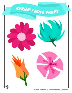 Spring Flowers Photo Booth Props