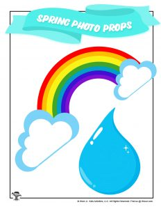 Spring Rainbow Raindrop Photo Prop