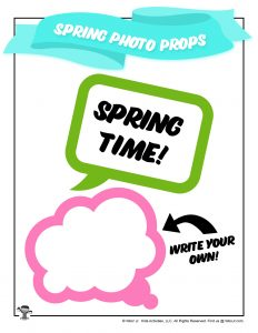 Printable Spring Time Photo Prop