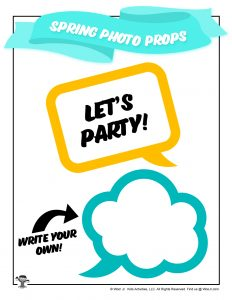 Speech Bubble Spring Photo Props
