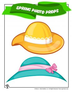 Easter Bonnet Spring Photo Prop Printable