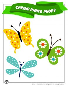 Butterflies Spring Photo Booth Prop