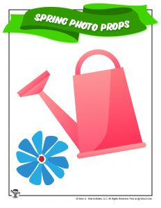 Spring Flower Watering Can Prop Printable