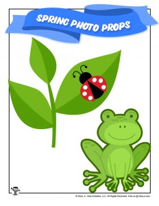 Spring Leap Frog Photo Booth Prop