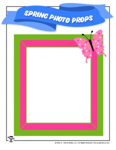 Free Printable Spring Photo Frame