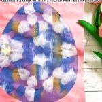 Folded Paint Easter Egg Art Project