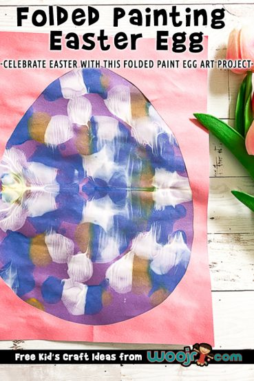 Folded Paint Easter Egg Art Project
