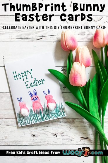 Thumbprint Bunny Easter Cards DIY