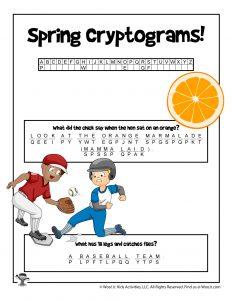 Spring Decode Puzzle Cryptogram - KEY