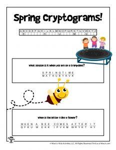 Spring Secret Code Word Puzzle - KEY