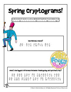 Printable Spring Cryptogram Puzzle - KEY