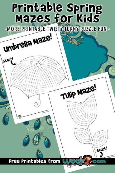 Printable Spring Maze Puzzles