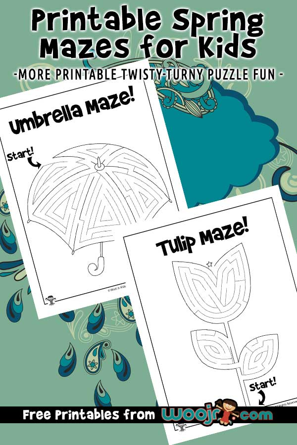 Printable Spring Mazes for Kids