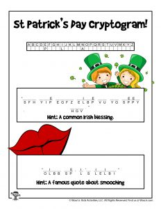 St. Patrick's Day Cryptograph Puzzle