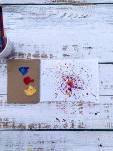 Splash Spatter Painting Art for Kids