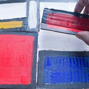 Recycled Cardboard Abstract Painting Craft