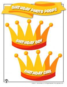 Birthday Boy Girl Crown Photo Prop