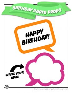 Happy Birthday Speech Cloud Photo Stick