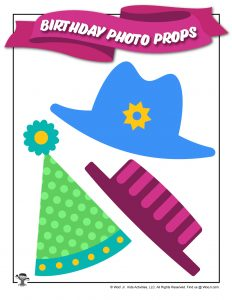 Birthday Party Photo Prop Hats for Kids
