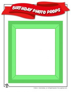 Birthday Party Picture Frame Prop