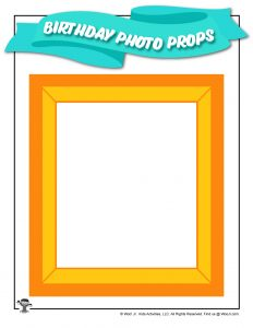 Free Printable Birthday Party Photo Frame