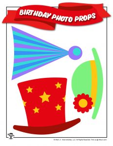 Birthday Party Printable Hats Props