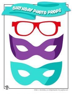 Printable Birthday Mask Photo Stick