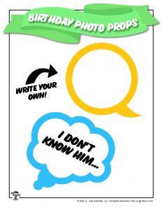 Printable Party Speech Bubbles for Kids