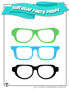Birthday Printable Glasses Photo Prop