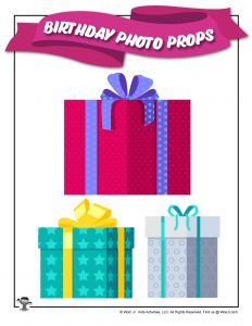 Printable Birthday Day Party Presents Prop