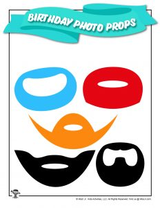 Funny Beards Printable Birthday Props