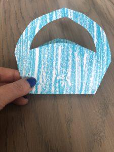 Blue Basket Folding DIY