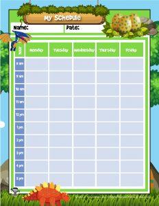 Dinosaur Planner Page Printable
