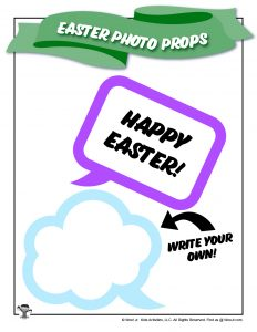 Happy Easter Speech Bubble Photo Prop
