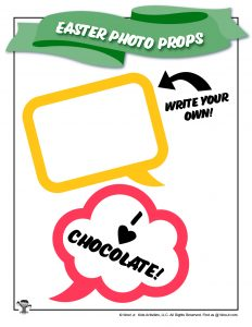 I Love Chocolate Easter Word Balloon Photo Prop